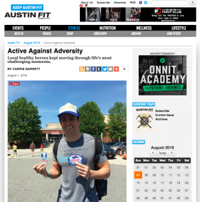 Austin Fit Magazine – August 2016 – Healthy Heroes